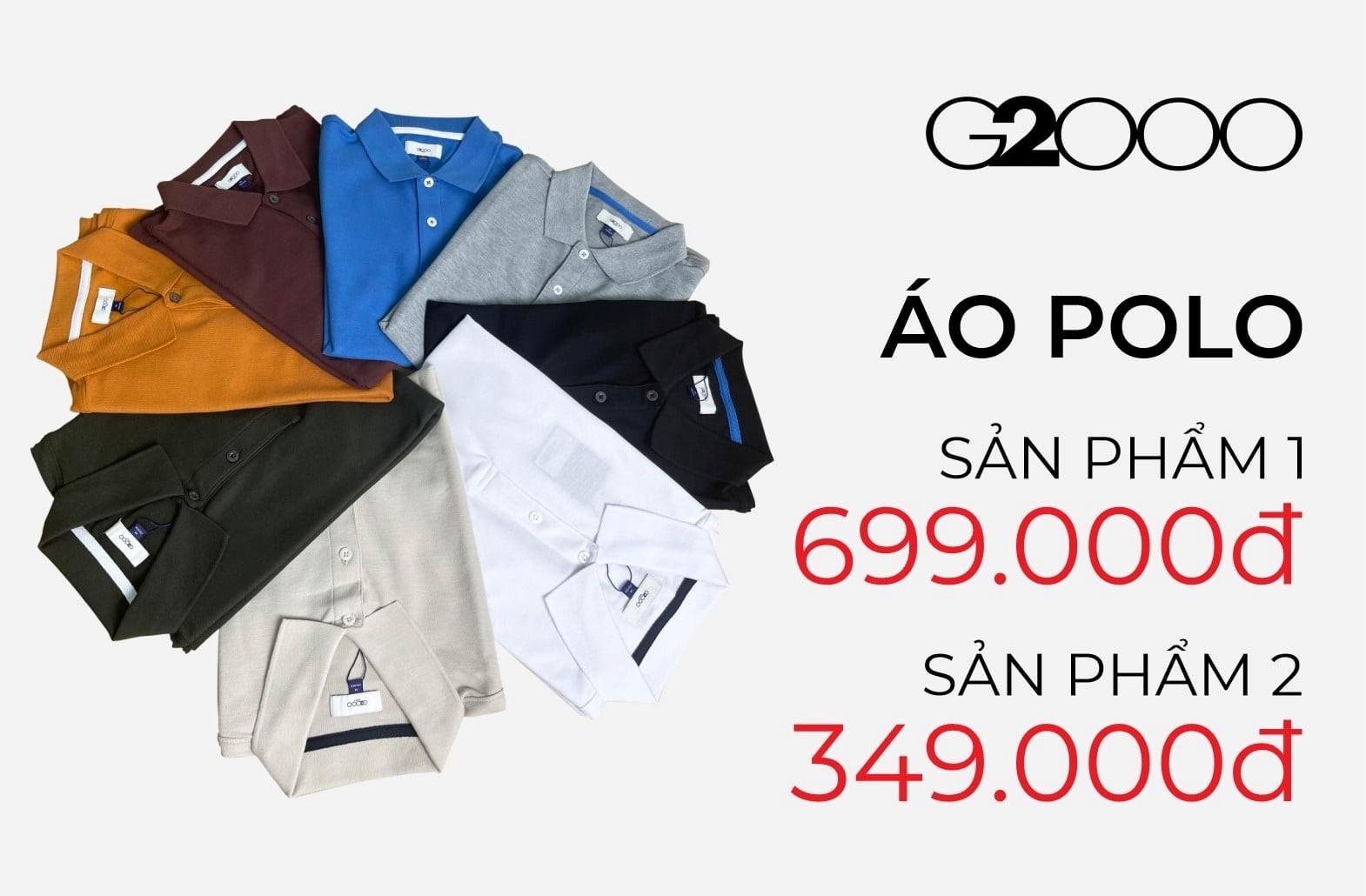 Ưu đãi dành cho áo Polo khi mua sản phẩm thứ 2 giảm còn 349k